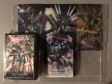 CARDFIGHT VANGUARD VOLLMOND BLAUKLUGER NOVA GRAPPLER SLEEVES + BOX