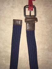 NWT Levi's Boy's Braided Navy Brown Classic Belt School Uniform Sz S 22-24