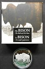 2014 CANADA ~ THE BISON ~ THE BULL AND HIS MATE ~ SILVER PROOF