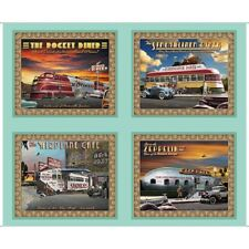 Retro Diner Picture Patches Panel-Artworks VIII-Quilting Treasures-Digital Print