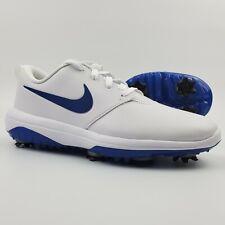 Nike Golf Roshe G Tour Shoes Cleats Men's Size 8.5 White Blue Indigo Force