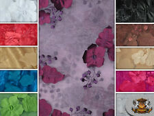 "ORGANZA FLORAL APPLIQUE FABRICS / 54"" WIDE / SOLD BY THE YARD"