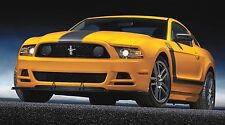 """BOSS 302 MUSTANG FORD SVT YELLOW 43"""" x 24"""" LARGE WALL POSTER PRINT NEW.."""
