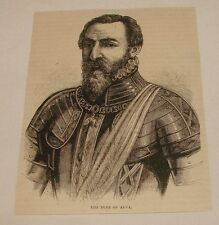 1880 small magazine engraving ~ DUKE OF ALVA, Netherlands