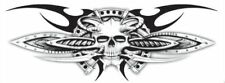 """Lethal Threat Decals/stickers Bio-Mechanical Skull,  2.740"""" x 7.740"""""""