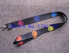Couleur Smiley Face Lanyard Keychain Porte-documents-Neuf