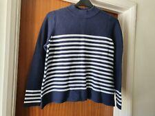 Womens size 16 TU Jumper Navy white striped