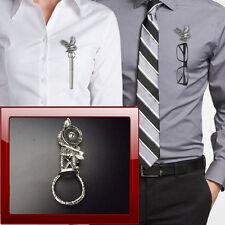 Saxon Warrior box1 K Pewter Pin Brooch Drop Hoop Holder Glasses,Pen,Jewellery