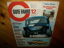 Zeitschrift für VW Gute Fahrt Nr.12  1974 VW Käfer Ro 80