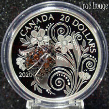 2020 - Bejeweled Bugs #3 - Ladybug - $20 Pure Silver Proof Coin - Canada