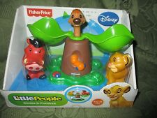 Fisher Price Little People Disney Movie Lion King Simba Pumbaa Tree NEW box set