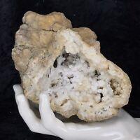 "6"" Druzy Crystal 2.6Lb Large Geode Natural Kentucky Spirit Quartz Cluster Golden"