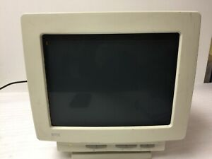 WYSE WY-55 AMBER TEXT CRT VIDEO DISPLAY TERMINAL w/ POWER CABLE