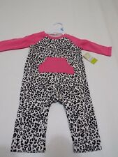 Black & pink one piece baby girl outfit size 6 month by Okie dokie NWT free ship