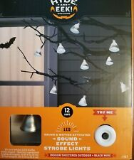 Hyde & Eek Halloween sound and motion activated effect strobe lights sound LED