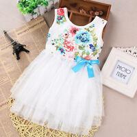 tout petit enfants bébé filles Princesse robe fleur fête de Mariage Tulle Tutu