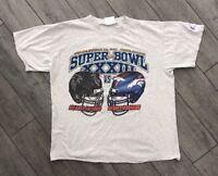 Vtg Mens 1999 Superbowl T Shirt Atlanta Falcons Vs Denver Broncos
