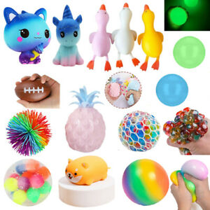 Squishy Hand Toys Squeeze Colorful DNA Stress Ball Stress Exercise Relief Fidget