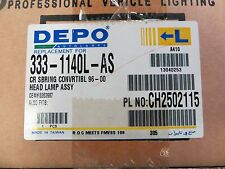 96-00 Chrysler Sebring Convertible LEFT Side Headlight 333-1140L-AS
