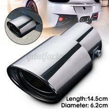 Universal Car Rear Exhaust Tip End Chrome Straight Tail Pipe Cover Trim 62mm