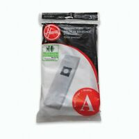 New Hoover Genuine Allergen Filtration Media Type A Vacuum Bags 3 Pack #4010100A
