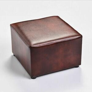 Rectangular Footstool PU Leather Footrest  Stool Modern Home Living Room Bedroom