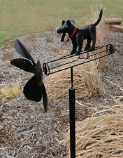 Black Lab Dog Whirligig Yard Spinner Kinetic Outdoor Wind Spinner