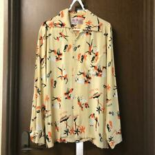 ALOHA BLOSSOM LONG SLEEVED PRINT SHIRT DISCONTINUED ITEM RARE MENS M 38 USED F/S