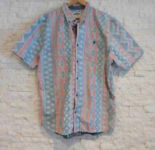Mens VANS short sleeve shirt Hawaiian Aztec Tiki Souwthwest XL inside out EUC