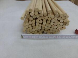 (zw)  20Stk 100cm Rundstab Abachi 9x9mm Rundleiste Rund Holzleisten