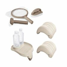 Intex Spa Maintenance Kit, Cup holder & Tray & Inflatable Spa Headrest (2 Pack)