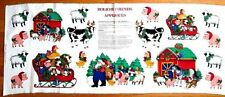 HOLIDAY FRIENDS APPLIQUES FABRIC COTTON PANEL