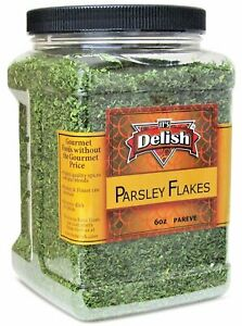 Dried Parsley Flakes by Its Delish - 6 Oz Jumbo Reusable Container - Long...