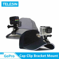 TELESIN Camera Cap Clip Fixed Bracket Mount Clamp For Gopro DJI Osmo Action