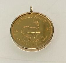 More details for one oz 22c gold krugerrand 1981 set in a 9ct gold mount. free p & p