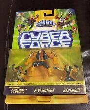 New 1995 Cyber Force Mega Heroes Cyblade Psychotron Heatwave Figures Limited Ed