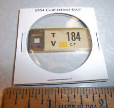 1954 Connecticut #184 DAV Mini License Plate keychain Disabled American Vet