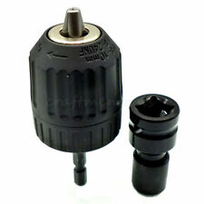 "1/2"" Square to 1/4"" Hex Shank Socket Adapter Convert w/ Keyless 3/8"" Chuck 24UNF"