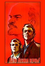 La propagande russe consacré au travail de Lénine RUSSIE Poster Print