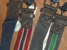 4 boy's  belts ~ 2 sets of 2 ~ gray green blue red ~  large  XL  FREE SHIP