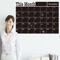 Monthly chalkboard Board Blackboard Removable Wall Sticker Decor Calendar DIY*