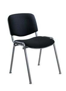 Office Conference Waiting Reception Visitor Stackable Stacking Chair Black