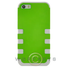 Apple iPhone 5/5S/SE TUFF Hybrid Case - Neon Green/White