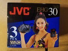 3 PACK JVC EHG30 VHS C TC-30