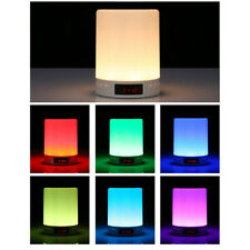 Alarm Clock Bluetooth Speaker Touch Colorful LED Wake-up Light Bedroom