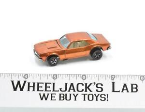 Custom Camaro #2 Orange 1968 Redline Hot Wheels Mattel Vintage Redline RL