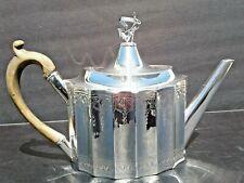 Rare Antique Georgian George III Irish Dublin Bright Cut Sterling Silver Teapot