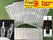 50 x Assorted Tattoo Needles & 50 x Matched Disposable Tattoo Tips free ink