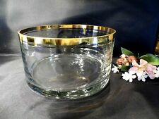 Große elegante Glas-Schale mit Goldrand topZustand Höhe 10cm Durchmesser 19cm !