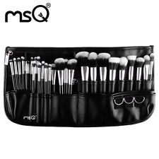 MSQ Professional 29PCs Makeup Brush Set Cosmetic Tool Synthetic Belt Purse Silve